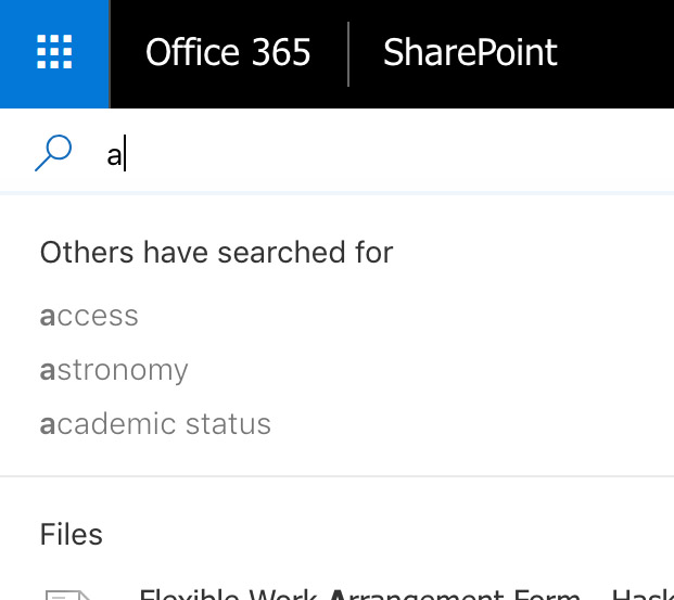 Search bar example