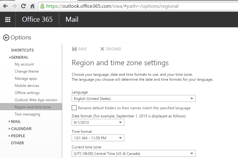 Change the Time Zone in Outlook | Computing for Arts + Sciences