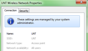 These settings are managed by your system administrator.